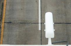 Камеры CCTV установленные на дорогу для отчетов о и скорости движения Стоковые Фотографии RF