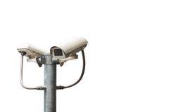 Камеры CCTV установлены вдоль улицы в Бангкок Стоковые Фотографии RF