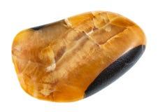 камешек драгоценной камня Simbircite (желтого кальцита) Стоковое фото RF