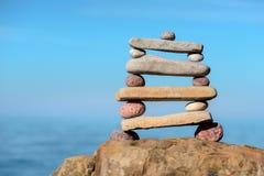 Камешки в уравновешении Стоковые Фото