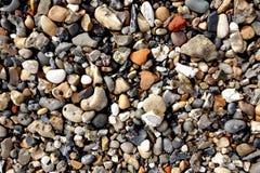 Камешки, камни на пляже Стоковое Фото