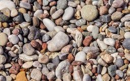 Камешки на пляже в Родосе Греции Стоковые Изображения RF