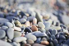 Камешки на пляже Кипра Стоковое Фото