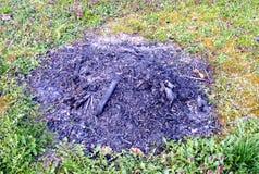 Камин в саде Стоковые Изображения RF