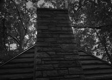 Камин в середине парка штата леса Стоковое Изображение