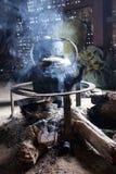 Камин в Шань-положении, Мьянме стоковая фотография rf