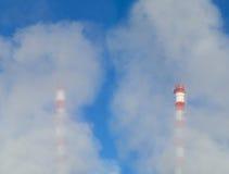 Камин и загрязнение Стоковая Фотография