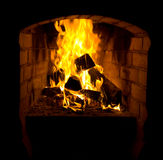 камин пожара Стоковое Фото