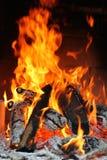 камин пожара Стоковая Фотография