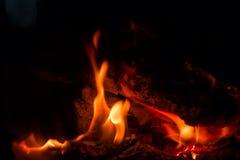 Камин пламени огня Стоковое Изображение RF
