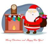 Камин рождества Бесплатная Иллюстрация