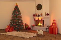 Камин 2 рождества бесплатная иллюстрация