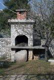 камин среднеземноморской Стоковая Фотография