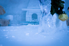 Камин Iceburning стоковое фото rf