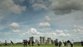 Камни Англия каменного henge монолитовые сток-видео