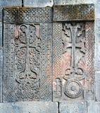 камни Армении перекрестные средневековые Стоковое фото RF