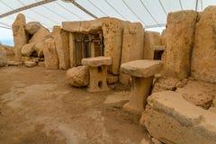Камни виска Hagar Qim Стоковое фото RF