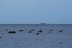 Камни в Балтийском море Стоковые Фотографии RF