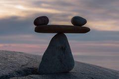 Камни в вечере Стоковое Фото
