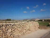 Камни в длинной стене Стоковое Изображение