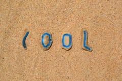 Камни в песке - охладите Стоковые Фото