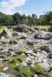 Камни и поток горячего источника Стоковое Изображение