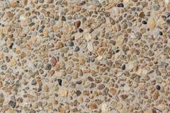 Камни и предпосылка & текстура стены песка Стоковые Изображения