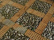 Камни и текстура мостоваой кирпичей Стоковые Изображения RF