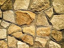 Камни мозаики форменные на стене Стоковые Фото