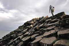 Камни мощёной дорожки взбираясь гиганта Стоковые Фотографии RF