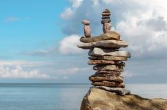 Камни на валуне Стоковая Фотография