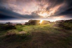 Камни на заходе солнца Стоковые Изображения RF