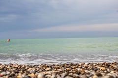 Камни на песке Стоковая Фотография