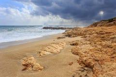 Камни на пляже Стоковая Фотография