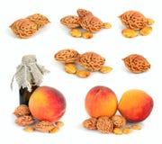 Камни персика. Стоковые Изображения