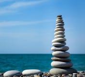 камни пирамидки раздумья Стоковое Фото