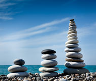камни пирамидки раздумья Стоковая Фотография