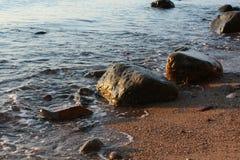камни пляжа стоковые изображения rf