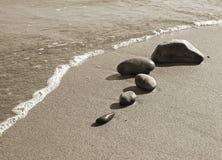камни пляжа Стоковое Изображение