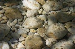 камни под водой Стоковая Фотография