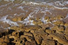 камни пляжа присутствующие Стоковые Изображения