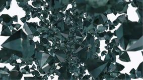 Камни драгоценности диаманта летания иллюстрация вектора