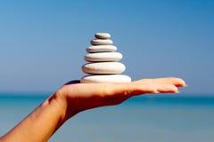 камни руки Стоковая Фотография