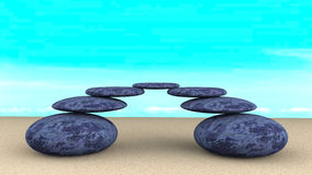 Камни сбалансировали конспект Стоковое Изображение