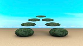 Камни сбалансировали конспект Стоковая Фотография