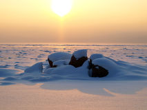 камни снежка озера Стоковое фото RF