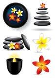 камни спы цветка элементов свечки иллюстрация штока