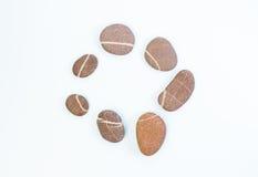Камни с белой нашивкой в круге Стоковое Изображение RF