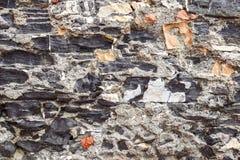 Камни текстурируют и предпосылка близкая текстура утеса вверх Стоковое Изображение RF