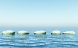 камни шага Стоковое Изображение RF